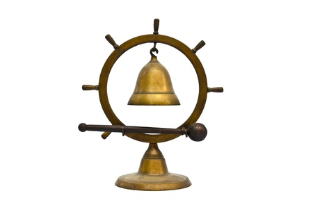 Old desk Bell isolated on white background photo