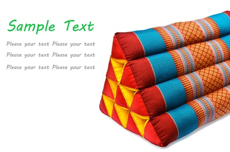Tradition native Thai style pillow isolated on white background Stock Photo - 20273361