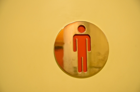 WC symbol (men toilet sign) photo