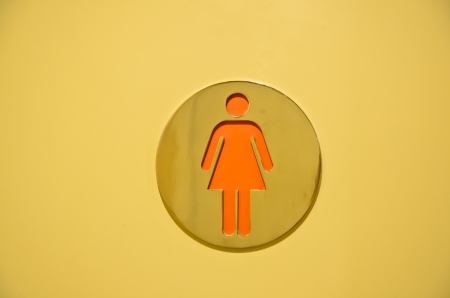 WC symbol (women toilet sign) photo