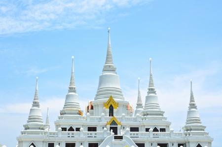 Temple of Wat Asokaram, Samut Prakan, Thailand photo
