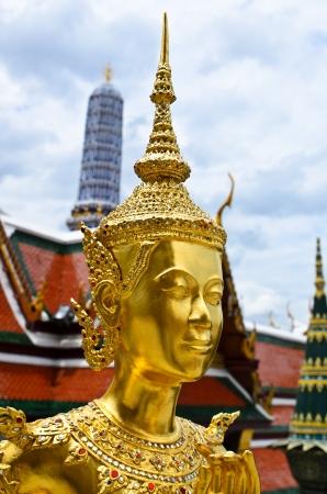 golden orb weaver: Demon Guardian at Wat Phra Kaew, Temple of the Emerald Buddha, Bangkok, Thailand Stock Photo