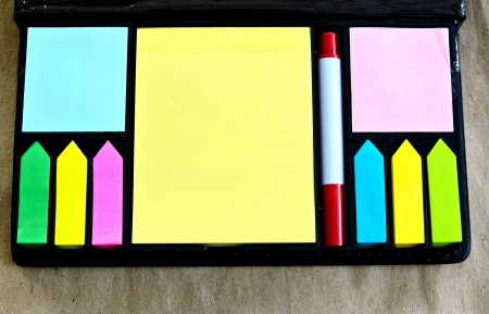 Multicolored  of post-it notes photo