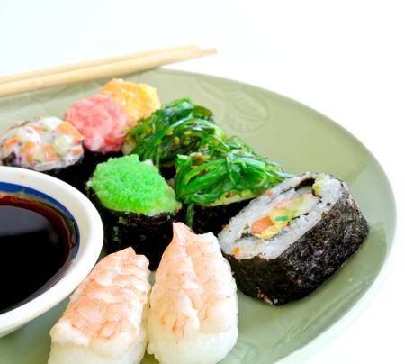 Comida japonesa de Shushi Foto de archivo