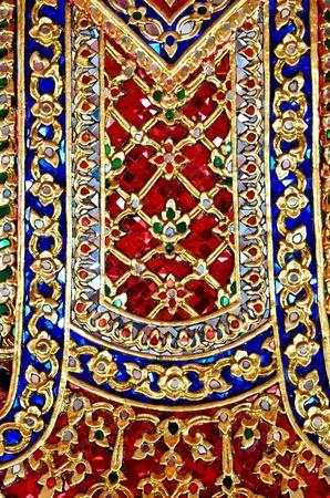 temple wall ornate ceramic, Thailand