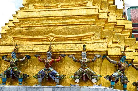Giant Buddha in Grand Palace, Bangkok, Thailand Stock Photo