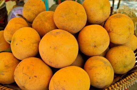 Sandoricum koetjape or Santol fruit in Thailand market