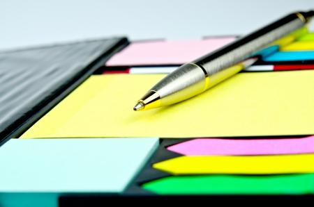 classic pen on yellow  memos Stock Photo - 22272097