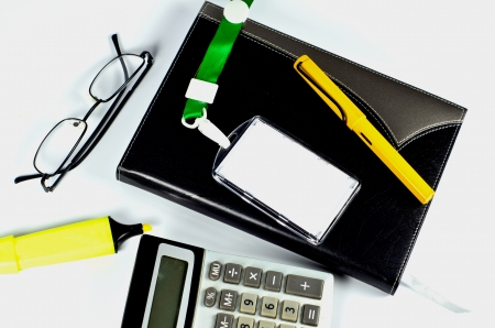 Office accessories on white Stock Photo - 22272101