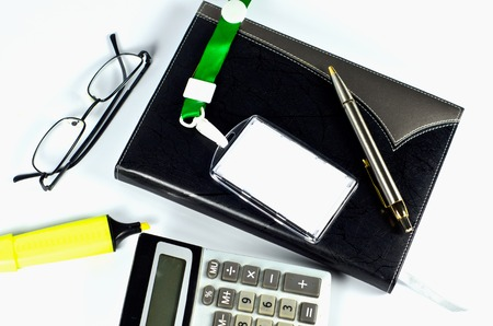 Office accessories on white Stock Photo - 22272102