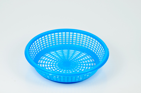blue plastic basket Stock Photo - 23430386