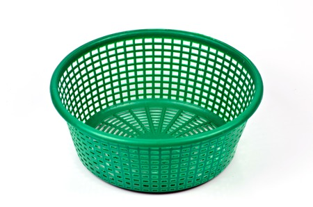 green plastic basket Stock Photo - 23430387