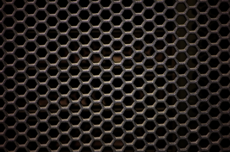 Hexagonal, honey comb stainless steel mesh photo