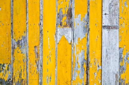 yellow painted planks as background Stock Photo