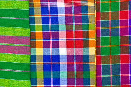 Colorful checkered loincloth fabric photo