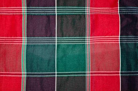 loincloth: Colorful checkered loincloth fabric Stock Photo