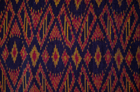 pattern of thai hand made fabric background