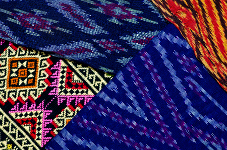 pattern of thai hand made fabric background photo