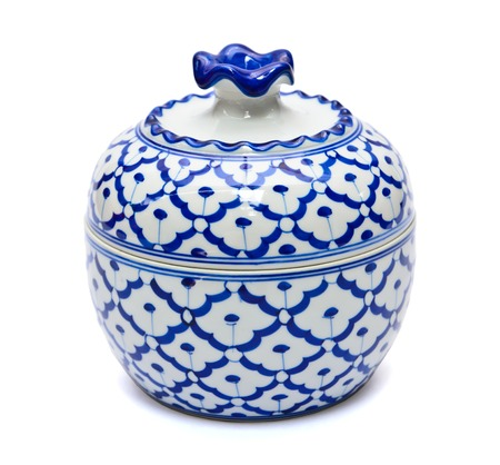 Benjarong porcelain on White background