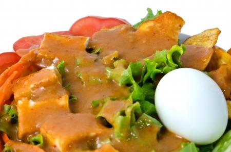 Islamic Salad on white blow.