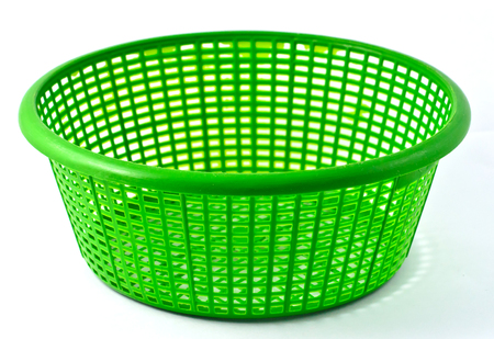 green plastic basket Stock Photo - 25001424