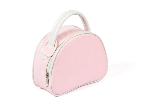 pink womans handbag