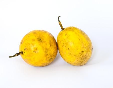 Jamaica honey-suckle, Passion fruit, Yellow granadilla. (Passiflora laurifolia L.).