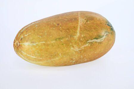 Thai cantaloupe melon on white background Stock Photo
