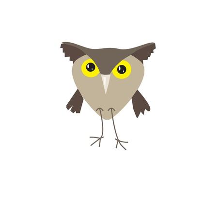 funny owl cartoon Illustration