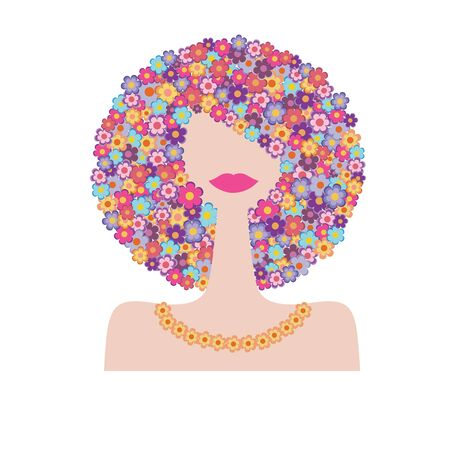 Fashion woman portrait for your design Illustration
