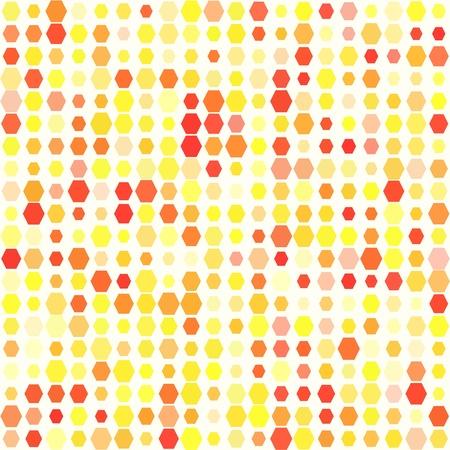 Yellow hexagons seamless