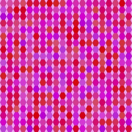 Pink hexagons seamless