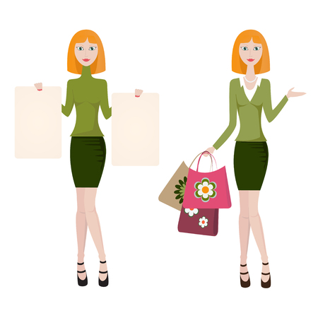 personal assistant: Redhead womans