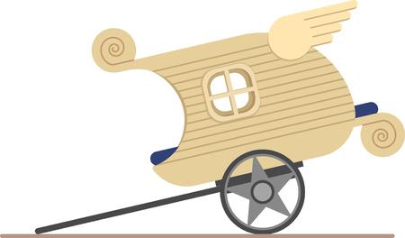 fantasy gypsy caravan Ilustração