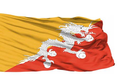 Bhutan 3D Flag Stock Photo
