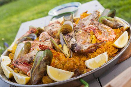 home-made paella photo
