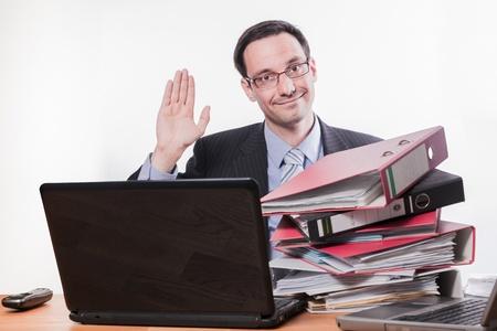 Bürosituationen und Ausdrücke Lizenzfreie Bilder