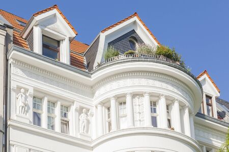 renovate old building facade: luxury appartement buildings berlin, germany