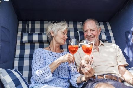 senior couple enjoying retirement Stock Photo