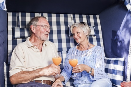 senior couple enjoying retirement photo