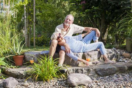senior couple enjoying retirement photo