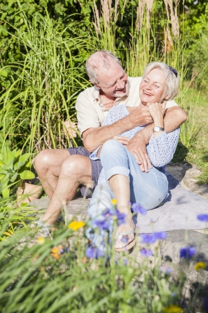 senior couple enjoying retirement Banque d'images