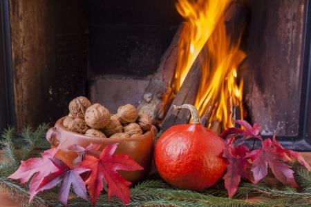 Danksagung Herbst Stillleben Lizenzfreie Bilder