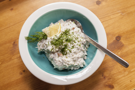 home made salmon trout mousse photo