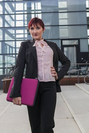pantsuit: young confident women business fashion