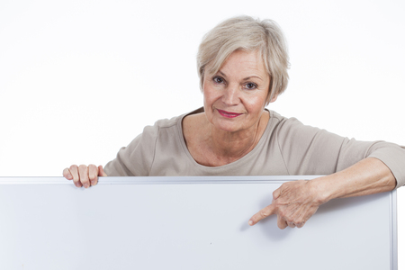 situations: confident neat senior woman various situations at home
