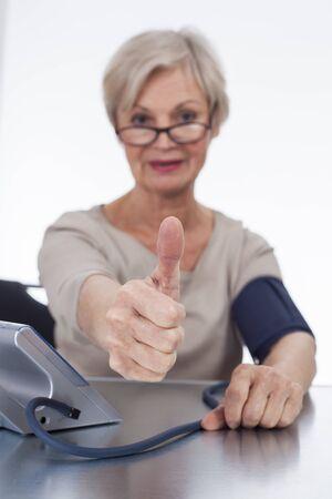 diastolic: confident neat senior woman various situations at home