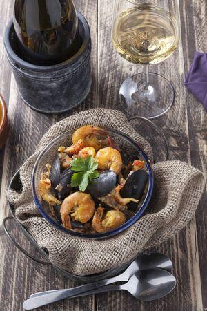 marisco: arroz de marisco portugese paella seafood rustic classic curry rice summer dish Stock Photo