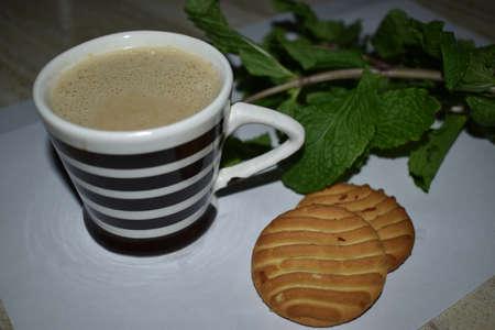 Cup of Coffee with cookies Zdjęcie Seryjne