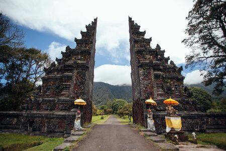 Traditional Balinese gate Candi Bentar,Bedugul in Bali, Indonesia